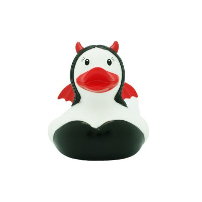 devil rubber duck woman