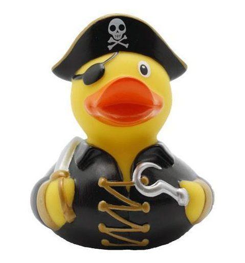 pirate rubber duck black - Amsterdam Duck Store