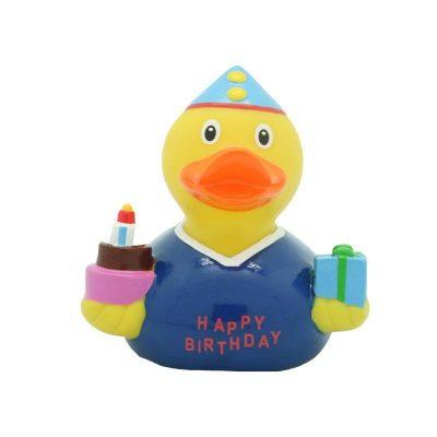 happy birthday boy rubber duck
