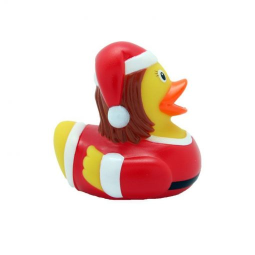 Christmas santa woman rubber duck