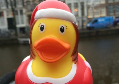 Santa Woman Rubber Duck