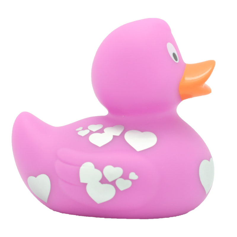 Pink Silver Hearts Rubber Duck Amsterdam Duck Store
