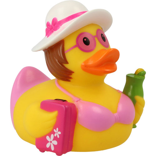 Holiday woman rubber duck