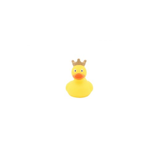 Mini yellow rubber duck crown front Amsterdam Duck Store